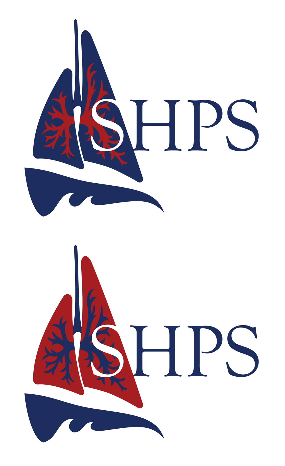 SHPS logo, two colors